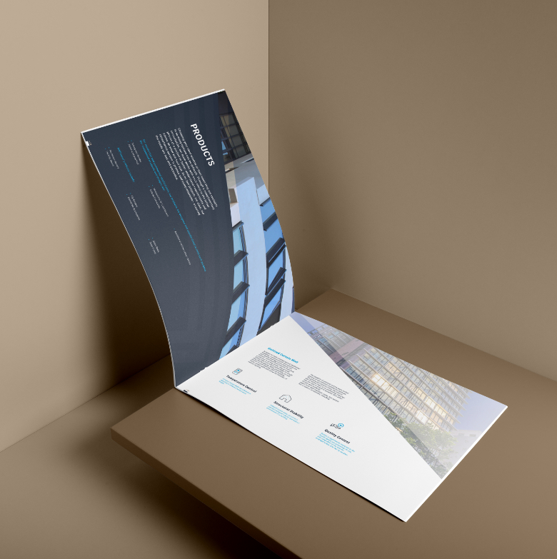 softcover landscape brochure