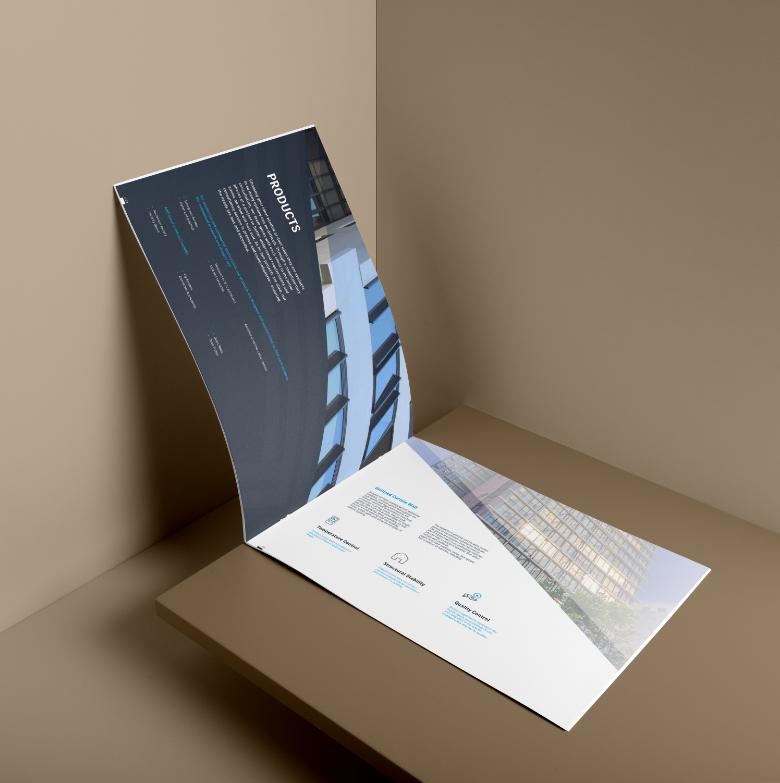 softcover landscape brochure